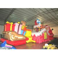 China Waterproof PVC Inflatable Christmas Decorations Strong Fabric Inflatable Santa Claus for decoration on sale