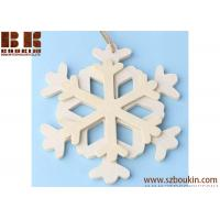China Unfinished Wood Layered Snowflake Ornament Christmas tree ornaments Holidays Gift Ornament wholesale