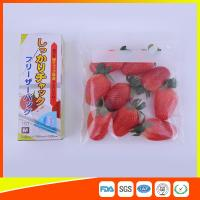 Clear Plastic Freezer Zip Lock Bags With Writing Panel For Vegetable / Meat Storage