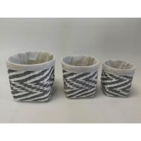 Quality 100% handwoven S/3 round  home storage basket with paper material for sale