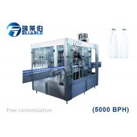 China Auto Rotary Glass Bottle Capping Machine Wine / Carbonated Drink Filling Line wholesale