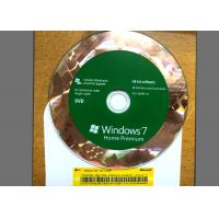 Quality Original DVD Win 7 Basic Home , Windows 7 Retail Version For 1 PC Using for sale