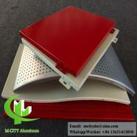 Quality perforated aluminum sheet for facade wall cladding panel exterior building cover for sale