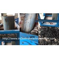 China Scrap Waste Plastic Pipe Shredder , Hollow Container Pvc Pipe Shredder on sale