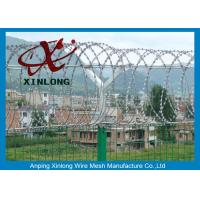 China Professional Razor Blade Wire , Security Barbed Wire PVC Coated Steel wholesale
