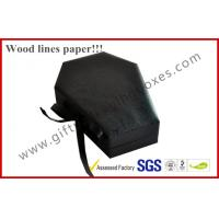 China Customized Wood Paper Apparel Gift Boxes , Jewellery Package With Metal Lock on sale