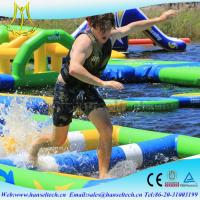 China Hansel popular happy hop inflatable water slide in the lake or sea wholesale