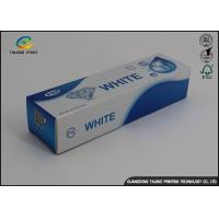 China Custom Toothpaste Packing Paper Box Glossy Lamination 0.2 - 0.6mm Thickness wholesale