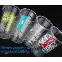 China Food grade 12oz 375ml cold drink transparent biodegradebale PET disposable plastic cup/airline plastic drinking cup wholesale