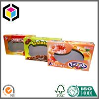 China Biscuits Cardboard Packaging Box with Clear Window; Open Ends Cardboard Box wholesale