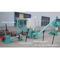 China 200 - 500kg/H Feed Pellet Production Line For Farm CE / ISO Certification wholesale