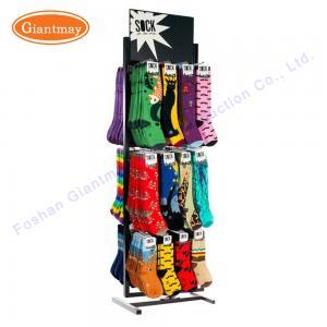 China Small Metal Table Top Rack Counter Metal Display Stand For Socks on sale