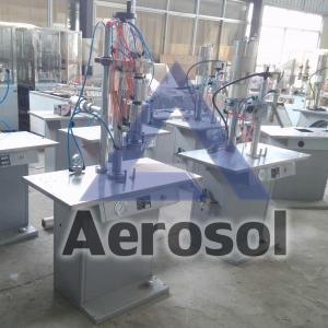 China ASB Semi-automatic Bag-on-valve Aerosol liquid filling machine wholesale