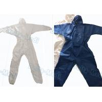 China Breathable SF Non Woven Disposable Protective Coveralls Ealstic Waist Multi Size wholesale