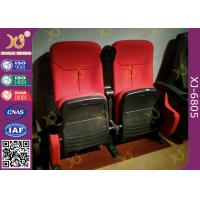 Dirty Proof Red Fabric Cinema Theater Chairs Seating With Foldable Seating Padding Manufactures