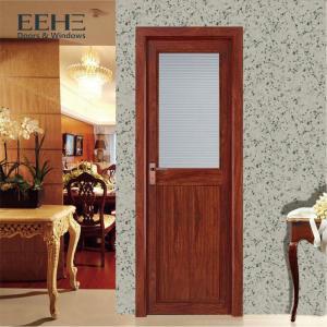 China Safety Modern Aluminium Interior Doors / Glass Acoustic Aluminium Bedroom Doors wholesale