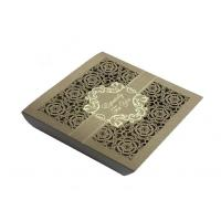 China Square Lace Laser Cut Chocolate Paper Box  For Wedding Invitation wholesale