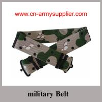 China Military Belt with PP Polyester Nylon webbing desert color olive green black color canvas wholesale