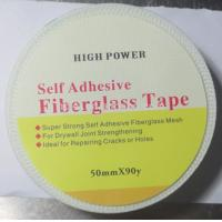 China 50mmx90m strong self adhesive Drywall Fibre Glass Joint Tape for reinforcing wall wholesale