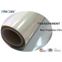 China Rear Projection Holographic Screen Film / Transparent Rear Projector Film wholesale