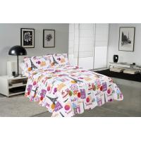 China Modern Style Printed Quilt Set With Classic Ticking Printing For Bedrooms wholesale