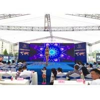 China HD Full Color Outdoor LED Screen Rental , P4 Movie TV LED Video Wall Panels wholesale