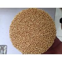 China Excellent Filtering Effect Silicon Carbide Ceramic Filter Improve Casting Performance wholesale