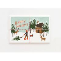 China Offset Printing Cardstock Christmas Cards Stock With Gloss Lamination Surface wholesale