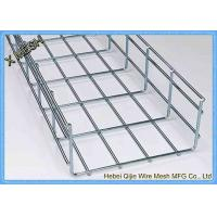China Galvanized / Powder Coated Wire Mesh Cable Tray , Metal Mesh Tray SGS Listed wholesale