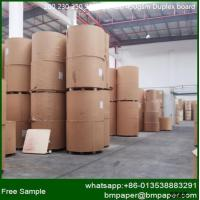 China Grade A white coated duplex board with grey back with competitive price wholesale