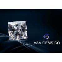 China Engagement Rings Lab Created Moissanite Colorless Princess Square wholesale