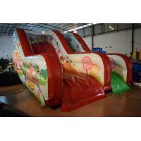 China PVC Tarpaulin Forest Commercial Inflatable Water Slides / Outdoor Mini Dry Slide wholesale