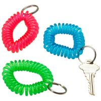 China Round Coiled Cord Keychain wholesale