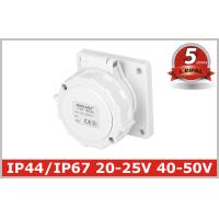 China IP67 Low-voltage Industrial Power panel mounted Socket 2P, 2P+E , 20V-25V,40V-50V, 16A,32A 5 Years Warranty wholesale