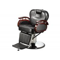 China Reclining Backrest Salon Barber Chair Brown With PU Leather Materials 48.5 KGs wholesale