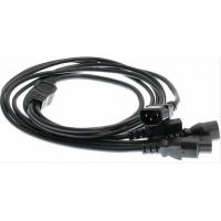 China Power Cord Cable IEC 320 C14 Male to 4XC13 wholesale