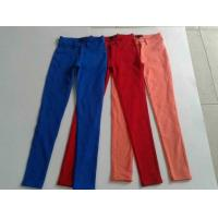 China 17000pcs overstock women brand surplus skinny pants, slim fitting trousers lots inventory wholesale