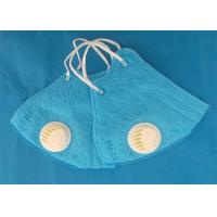 China Blue Earloop N95 Dust Disposable Face Mask With Valve Anti Pollution wholesale
