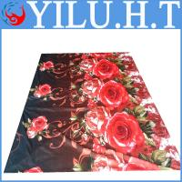 China low price wholesale 100% polyester flower printed indian bedsheets set wholesale