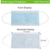 China 3-Ply Face Mask disposable one time use Earloop wholesale