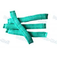 China Green Single Elastic Disposable Mob Cap , Doctor Bouffant Disposable Hair Cover wholesale