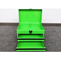 """China 14"""" Green 2 Drawer Concertina Cantilever Tool Box For Auto Reparing wholesale"""