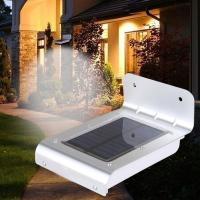 China 16 LED outdoor light waterproof solar powered led wall light with sensor wholesale