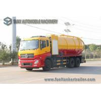 China Dongfeng 15000L 10 Wheel Vacuum Tank Truck 270hp High Pressure Cleaning And Sewage Suction wholesale