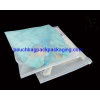 China CPE / PPE slide zip garment bag, clothes bag with zipper on top wholesale