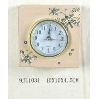 China Wooden Desk Antique Butterfly Alarm Clock (9JL1031) on sale