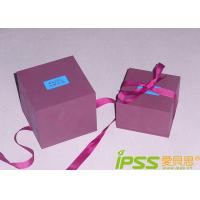 China Corrugated Decorated Gift Boxes 157g Art Paper , 250g White-Grey wholesale