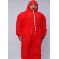 China Zip Front SMS Disposable Protective Apparel With Hood Boots wholesale
