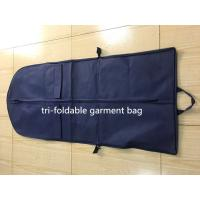 Buy cheap Tri-foldable Suit Garment Bag navy non woven and polyester with shoe pocket from wholesalers