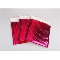 China Rose Pink Metallic Mailing Envelopes , Colored Bubble Mailers For Transport wholesale